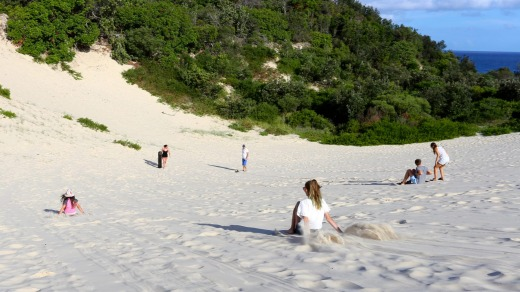 Sandboarding on North Stradbroke.