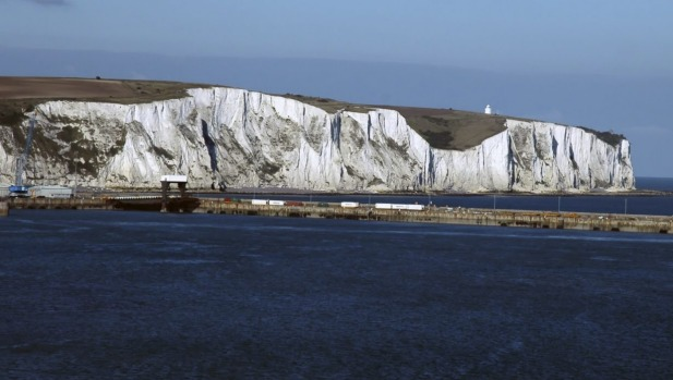 The White cliffs of Dover are a welcome sight.