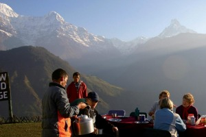 Reaching Annapurna base camp, in the Himalayas, is a manageable goal for a family trip.