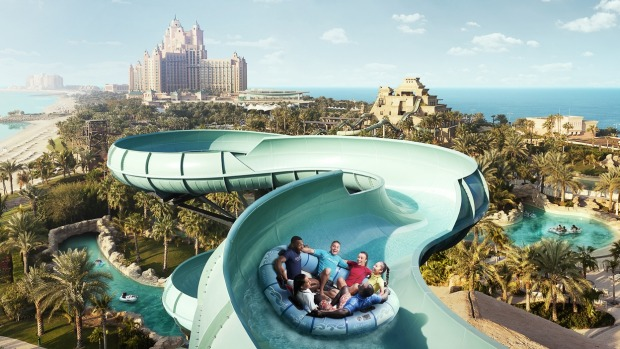 It's all go at the Aquaventure waterpark.