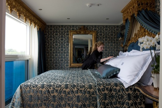 A suite on Uniworld's SS Maria Theresa.