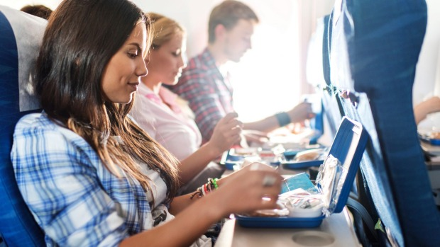 The tray table is the dirtiest place on the plan according to the study.