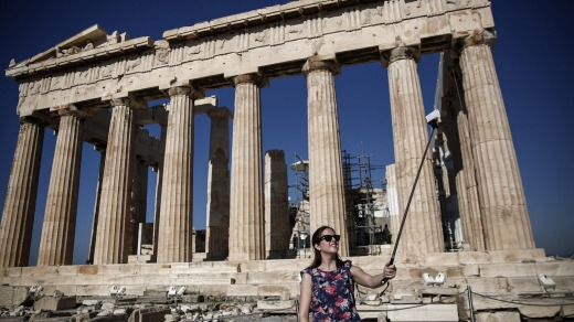 The will cruise stop by the Parthenon in Athens.