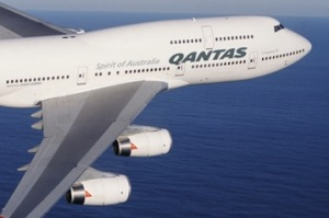 Tired? A Qantas Boeing 747-400.