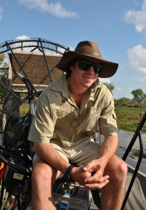 Bamurru Plains guide and airboat operator Riley.