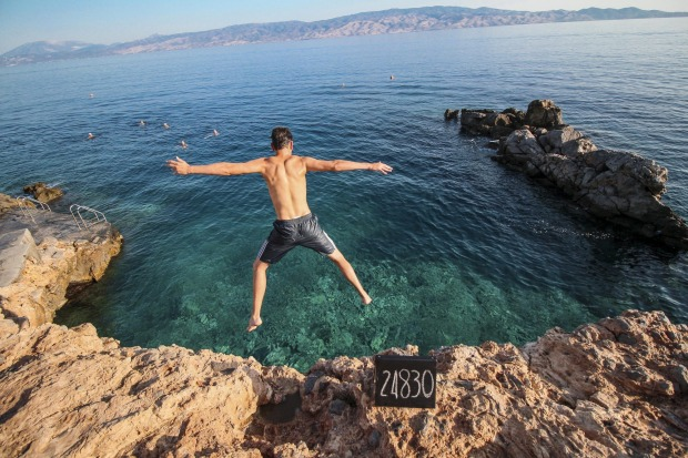 The How From From Home bloggers took a leap into the unknown. (Photo from Greece)
