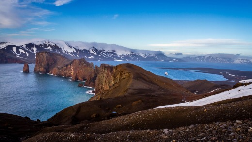 Harsh, but beautiful: Deception Island, Antarctica.