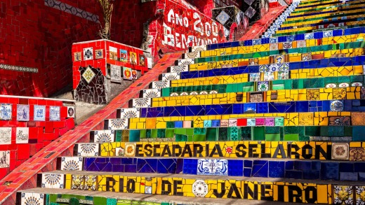 A walk down the Selaron Steps is an ideal way to return to the city from Santa Teresa.