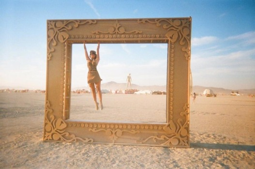 Julia Gutman, from Sydney, at the Burning Man festival in Nevada.