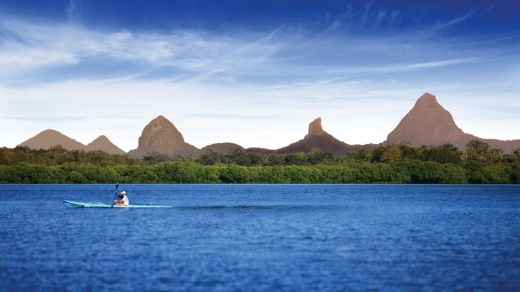 Glasshouse Mountains.