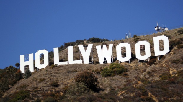 Hollywood sign in Los Angeles, California.