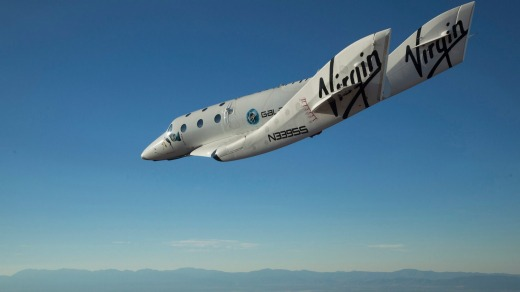 Virgin Galactic's SpaceShipTwo.