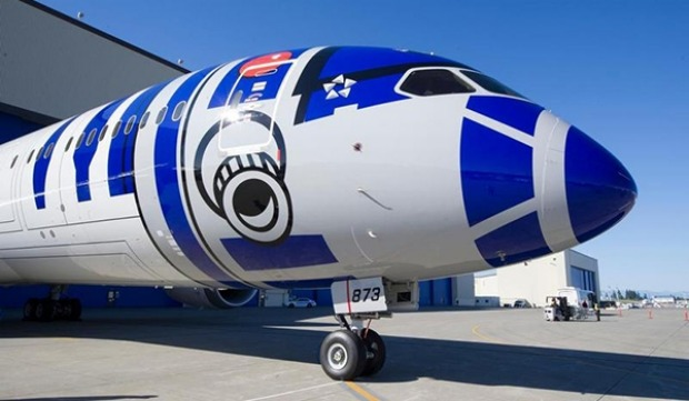 R2-D2 ANA jet: Japan's All Nippon Airways first Star Wars 787-9 Dreamliner plane.
