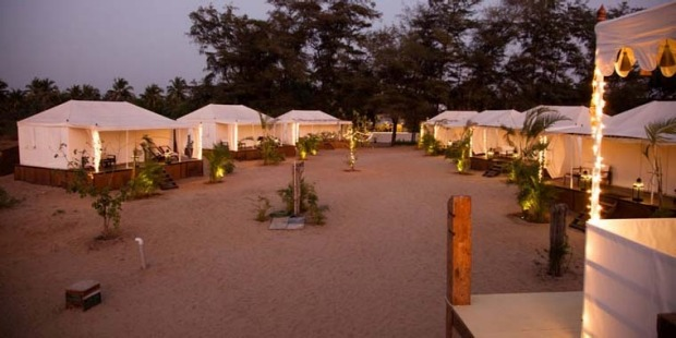 4    PAROS BY AMARYA, GOA, INDIA. With its white rectangular tents on decking, sitting right on the ocean front, this ...