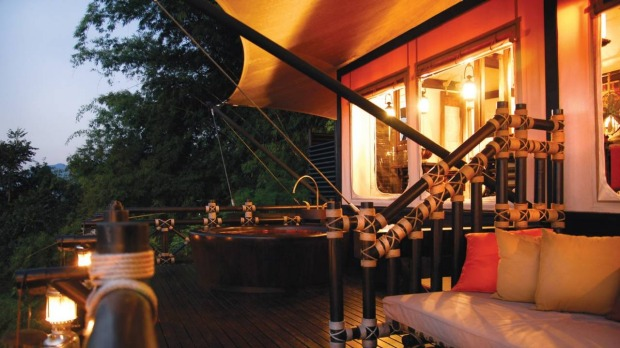 3   FOUR SEASONS TENTED CAMP GOLDEN TRIANGLE, SOP RUAK, THAILAND. You know you're not in a standard tent when you hear ...