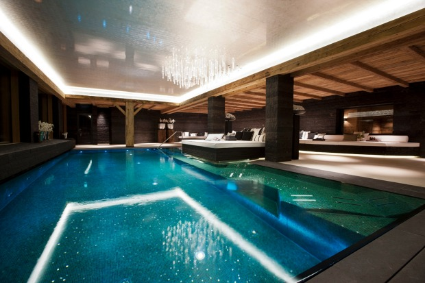 Day spa at Chalet N, Lech, Austria.
