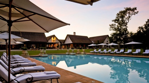 The pool at the Royal Livingstone Hotel.