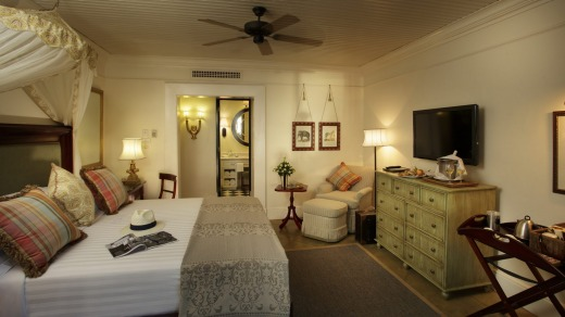 A room at the Royal Livingstone Hotel.