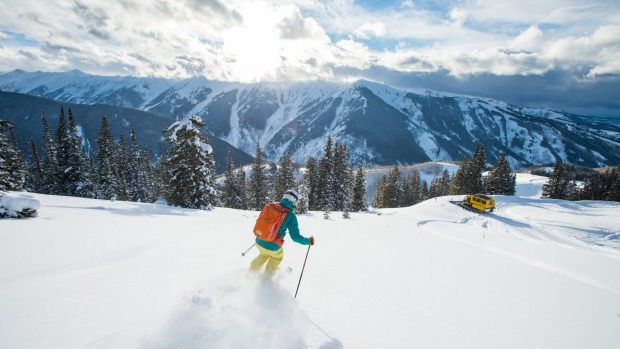 Glorious nature: Skiing with Little Nell Powder Tours.