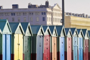 Beach huts at Hove which can change hands for more than $30,000.