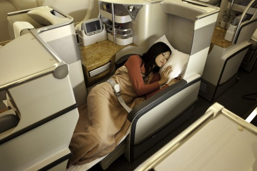 Emirates A380 Business Class.