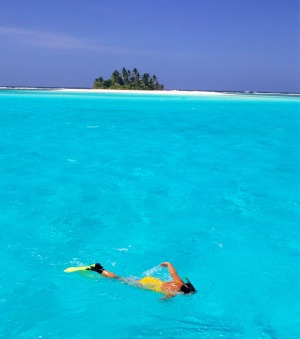 The Cocos Islands offers beautiful snorkelling opportunities.