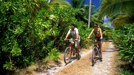 Cycling West Island in the Cocos.