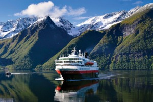Hurtigruten's vessels ply the Norwegian coast.