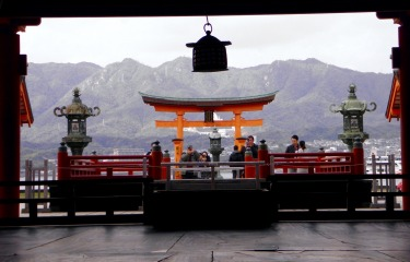 This photo was taken in Miyajima, Japan. It's most memorable because of the colours of the Tori Gate and everything ...