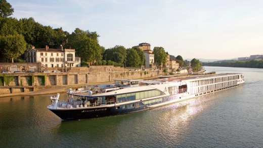 Avalon Poetry II on the Saone River in Lyon, France.