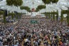 Revellers crowd at the Hofbraeu tent on the opening day of the 2015 Oktoberfest in Munich, Germany. The 182nd ...