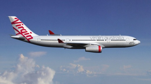 Virgin Australia is flying an Airbus A330 on the  Hong Kong route.