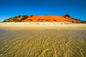 Red dunes and white beaches at Cape Peron.