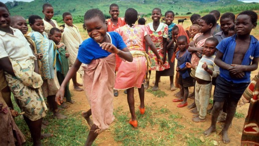 Children dancing in Malawi - the 'warm heart of Africa'.