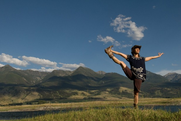 Where in the world would cowgirl yoga work really well? Montana, of course. Margaret Burns Vap, founder of Big Sky Yoga ...