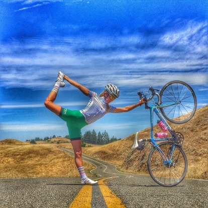 Yogini and social media guru Pat Bailey explains that cycling and yoga are extremely complimentary.
