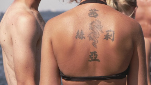 Hardcore travellers love a tattoo to remind them of where they've been.