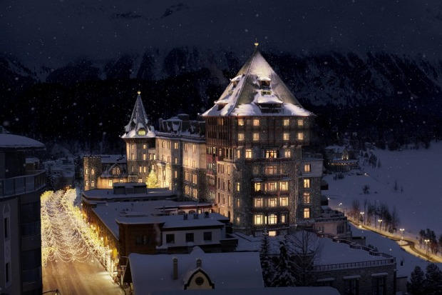 Badrutts Palace, St Moritz, Switzerland.