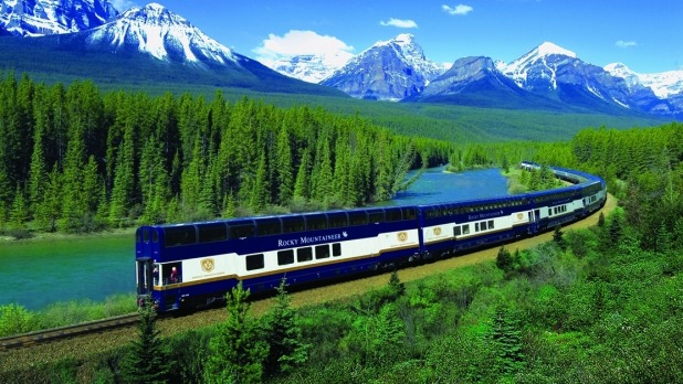 The Rocky Mountaineer in Canada.