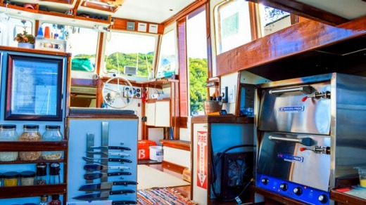 It took Tara and Sasha Bouis two years to transform the vessel from a termite-infested junkyard find to a fully ...