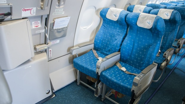 The exit row offers ample legroom.