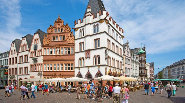 The market square in Trier.