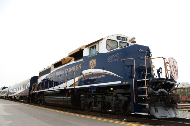 The Rocky Mountaineer's engine.
