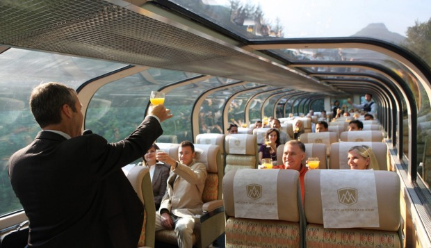 Gold Leaf service on the Rocky Mountaineer.