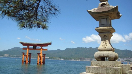 The floating tori gate of Miyajima Island near Hiroshima.
