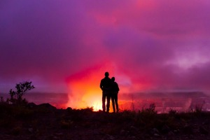 The surreal glow created by the Kileaua volcano on Hawaii's Big Island.