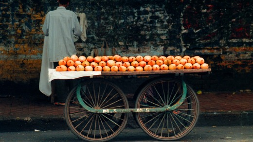 Mangoes for sale in Mumbai.