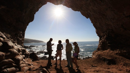Point of Human Origins Experience, Pinnacle Caves, Mossel Bay, South Africa.