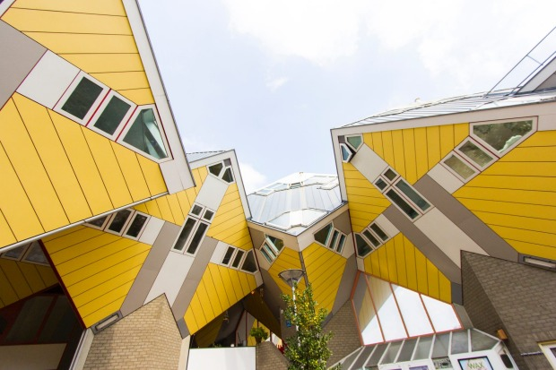 The 15 coolest properties on Airbnb: Rotterdam Cube House in Rotterdam, Netherlands.