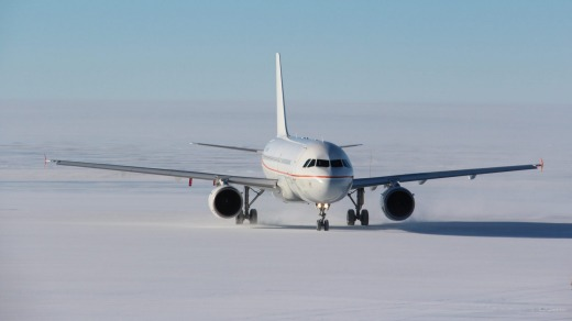 Flights from Hobart to Wilkins Runway, Antarctica, ferry mainly researchers.